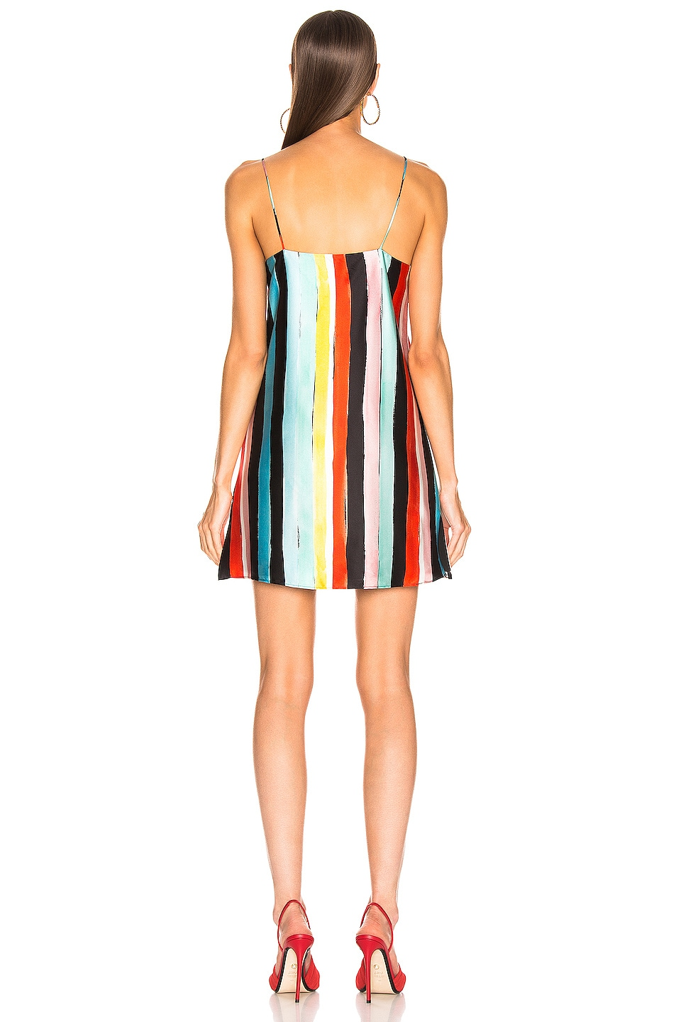 Image 3 of Caroline Constas Elena Slip Dress in Black Multi