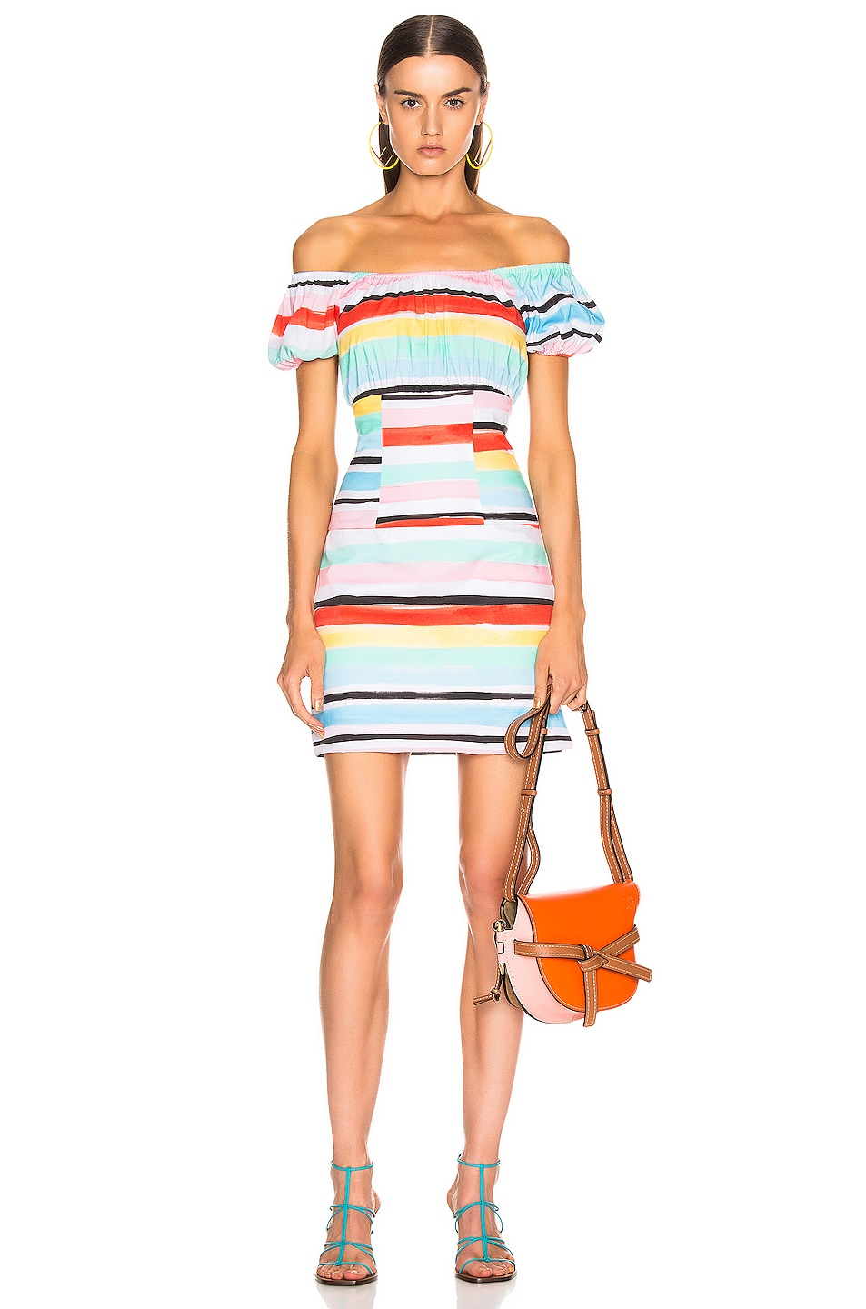 Image 1 of Caroline Constas Calla Mini Dress in White Multi