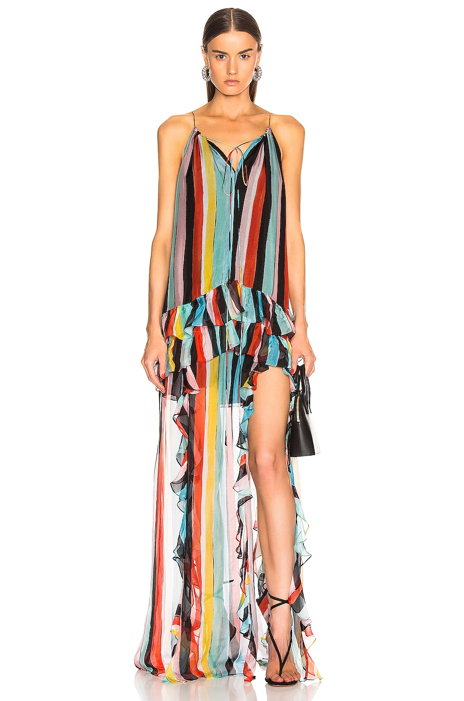 Image 1 of Caroline Constas Isla Maxi Dress in Black Multi