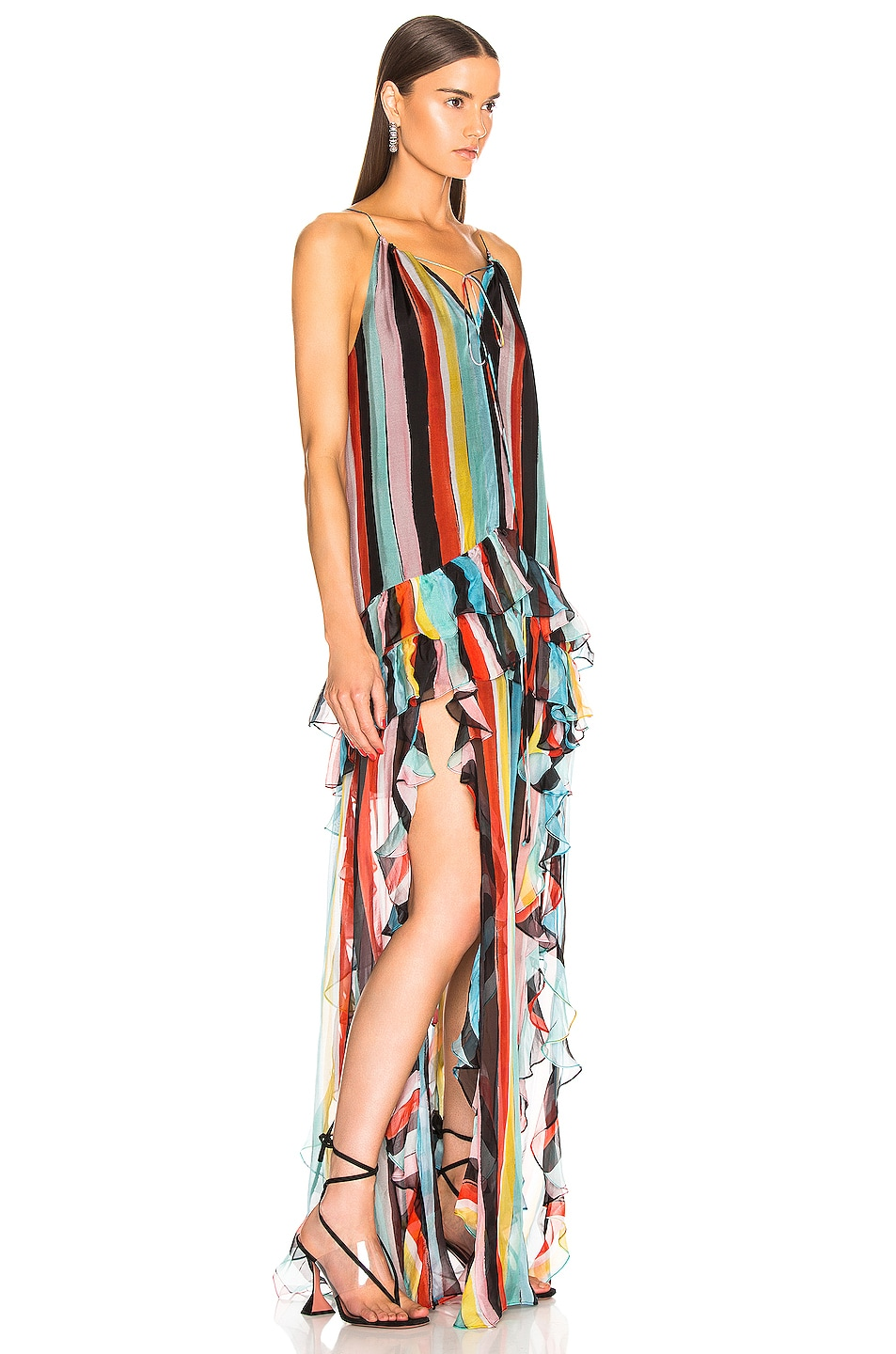 Image 2 of Caroline Constas Isla Maxi Dress in Black Multi
