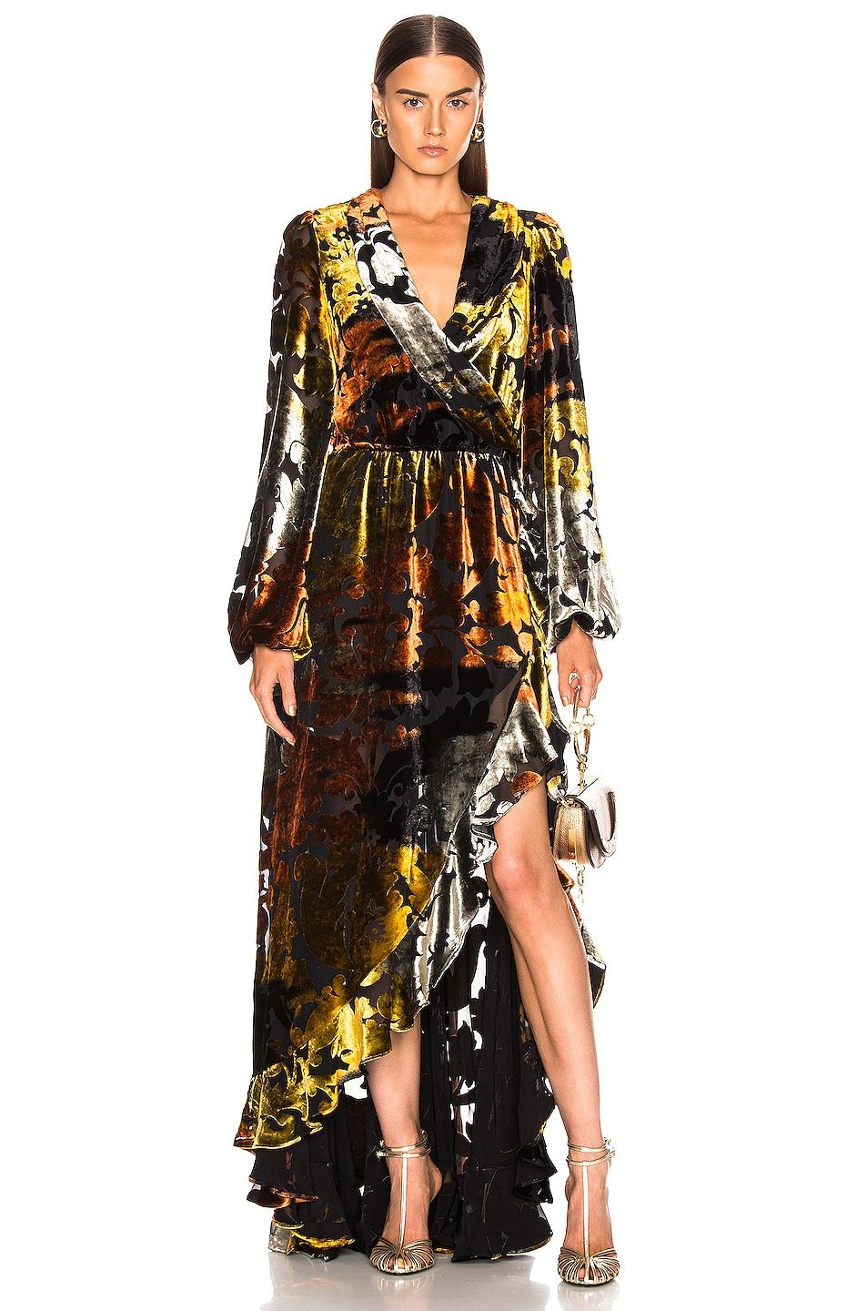 Image 1 of Caroline Constas Liv Gown in Gold