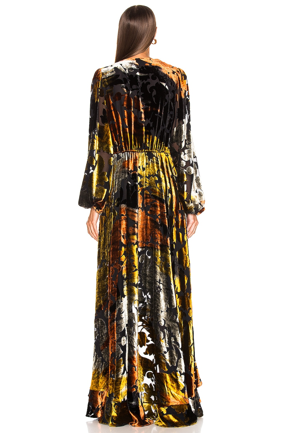 Image 3 of Caroline Constas Liv Gown in Gold