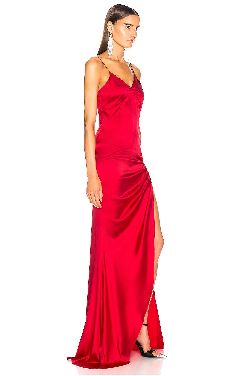 Image 2 of Caroline Constas Lainey Gown in Ruby Red