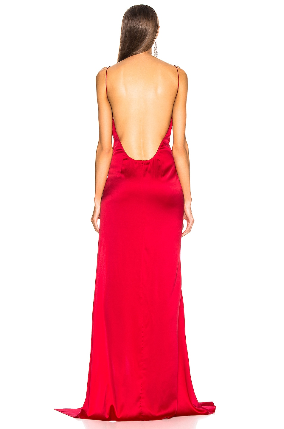 Image 4 of Caroline Constas Lainey Gown in Ruby Red