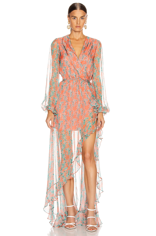Image 1 of Caroline Constas Liv Dress in Coral