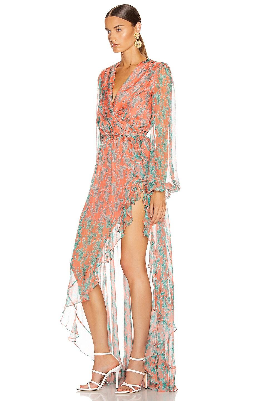 Image 3 of Caroline Constas Liv Dress in Coral