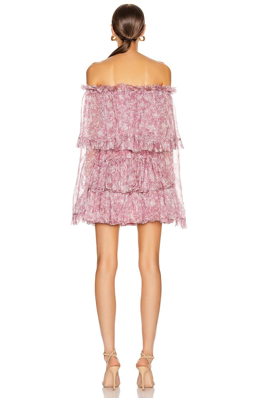Image 3 of Caroline Constas Dahlia Dress in Mauve