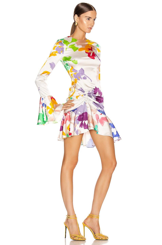 Image 2 of Caroline Constas Monique Mini Dress in White Multi