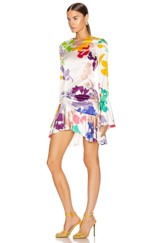 Image 3 of Caroline Constas Monique Mini Dress in White Multi