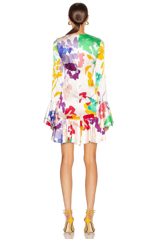 Image 4 of Caroline Constas Monique Mini Dress in White Multi