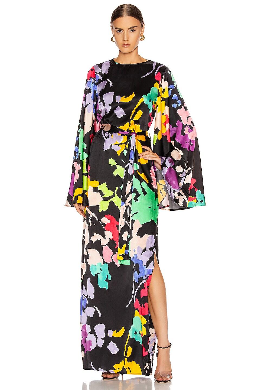 Image 1 of Caroline Constas Lilliana Dress in Black Multi