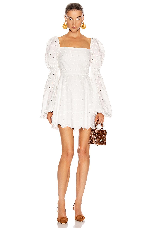 Image 1 of Caroline Constas Wren Dress in White