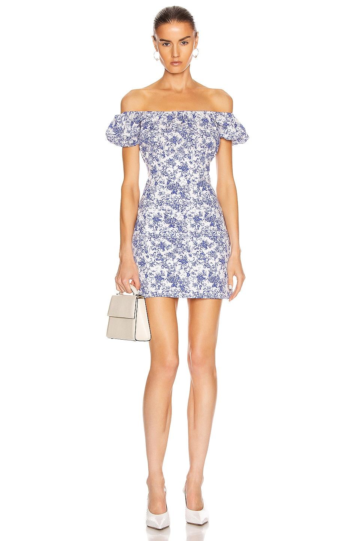 Image 1 of Caroline Constas Calla Mini Dress in Blue