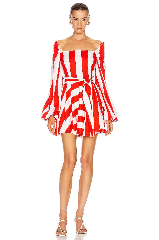 Image 1 of Caroline Constas Alessa Dress in Red