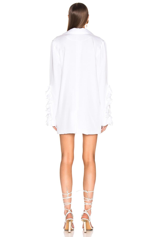Image 3 of Caroline Constas Ruffle Blazer in White