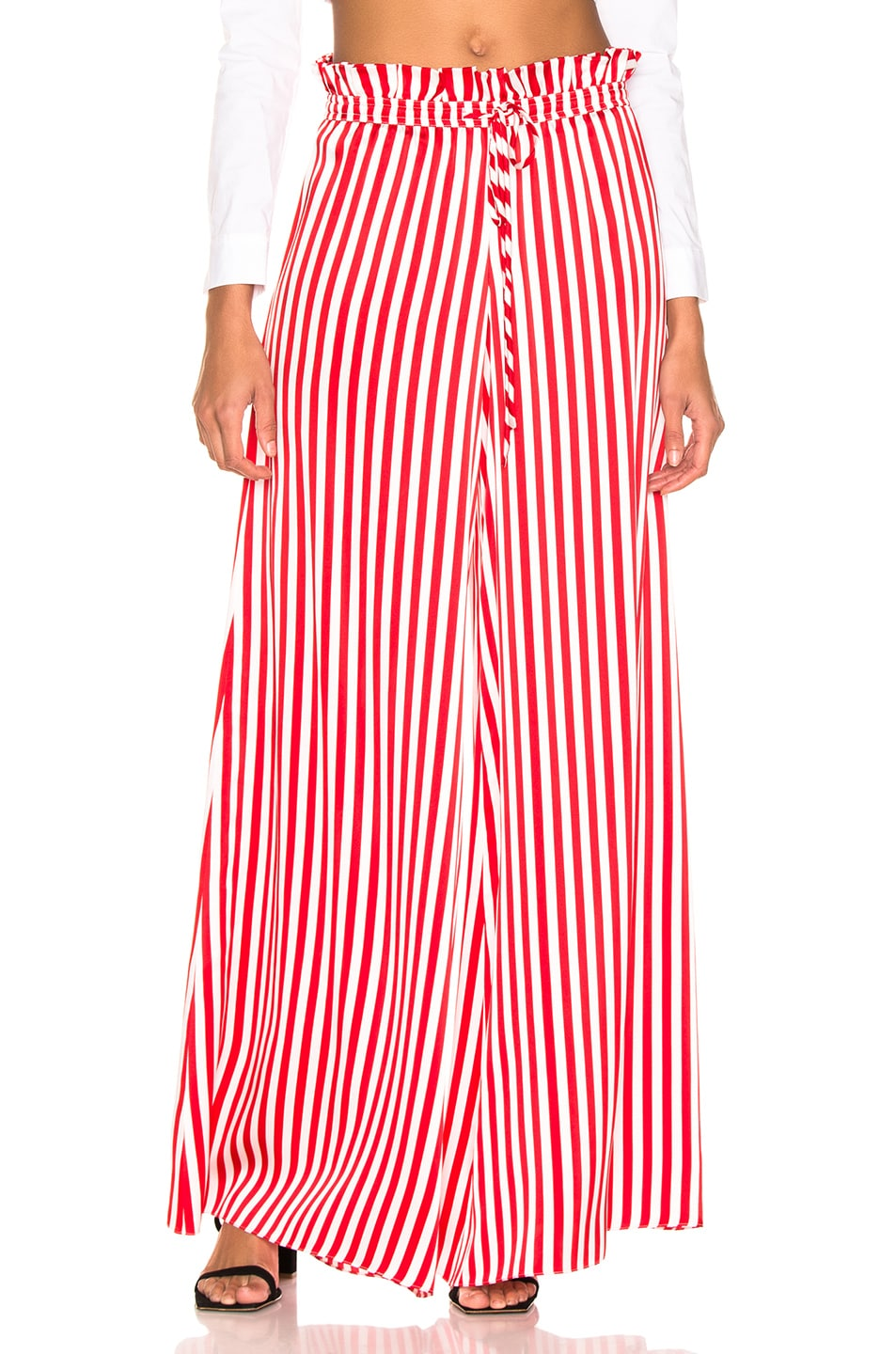 Image 1 of Caroline Constas Paperbag Pant in Red