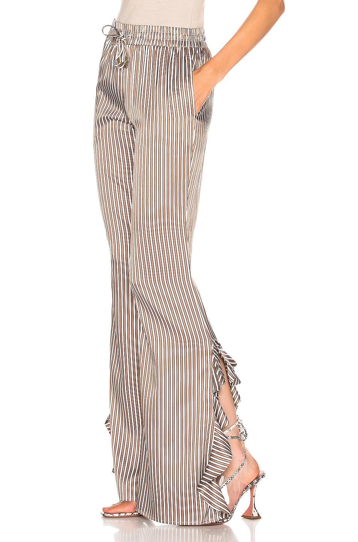 Image 3 of Caroline Constas Side Ruffle Pant in Camel