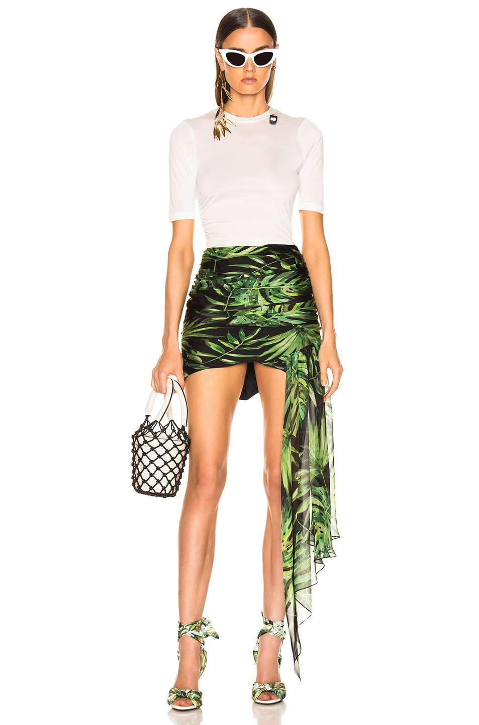 Image 5 of Caroline Constas Kira Skirt in Black Multi