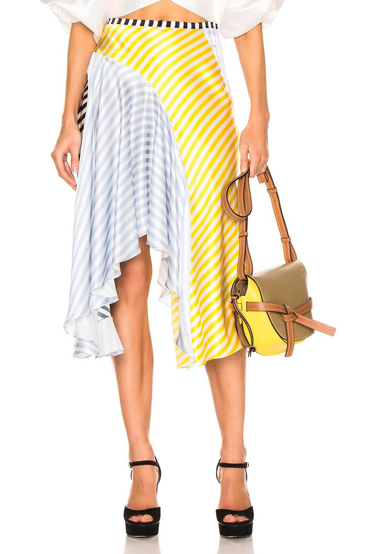Image 1 of Caroline Constas Flounce Skirt in Multi