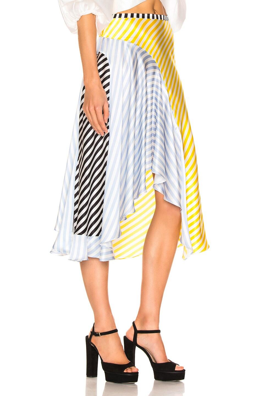 Image 2 of Caroline Constas Flounce Skirt in Multi