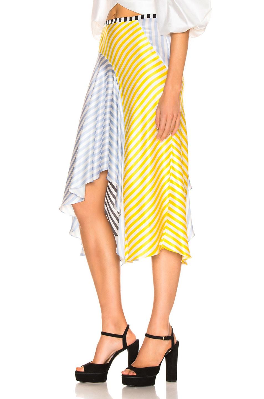 Image 3 of Caroline Constas Flounce Skirt in Multi