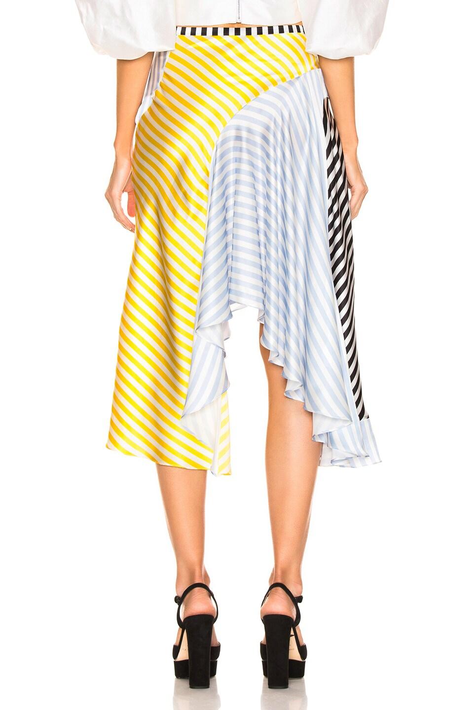 Image 4 of Caroline Constas Flounce Skirt in Multi