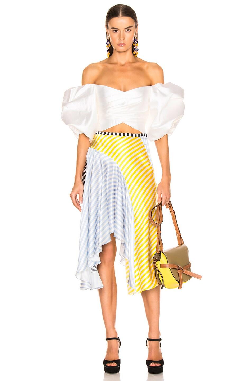 Image 5 of Caroline Constas Flounce Skirt in Multi