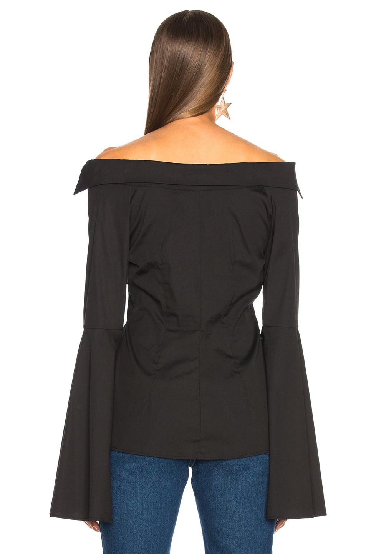Image 3 of Caroline Constas Persephone Top in Black