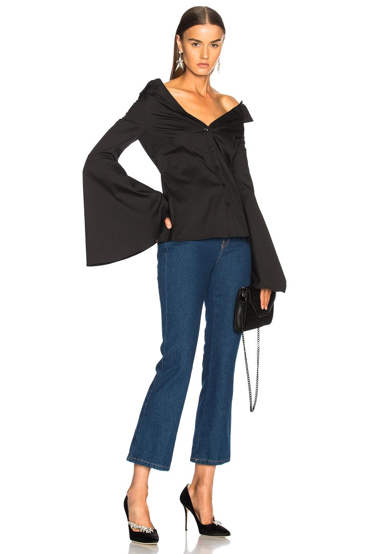 Image 4 of Caroline Constas Persephone Top in Black