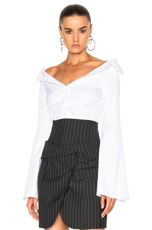 Image 1 of Caroline Constas Persephone Top in Solid White