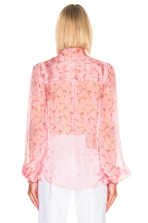 Image 3 of Caroline Constas Bette Blouse in Pink