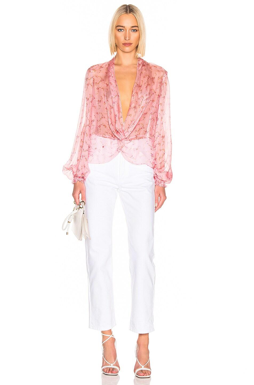 Image 4 of Caroline Constas Bette Blouse in Pink