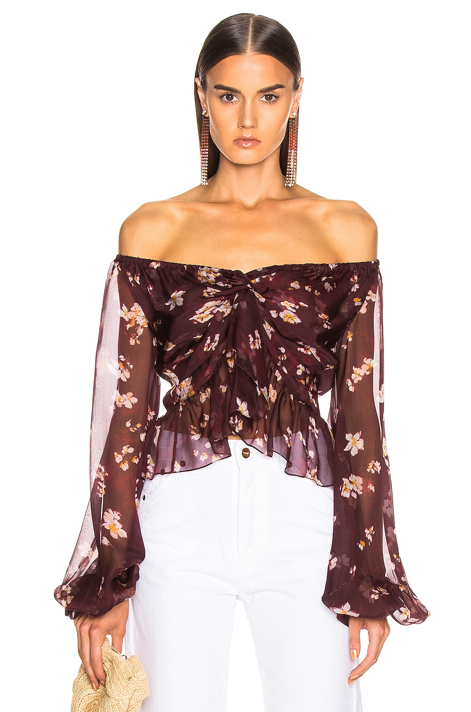 Image 1 of Caroline Constas Onira Top in Bordeaux