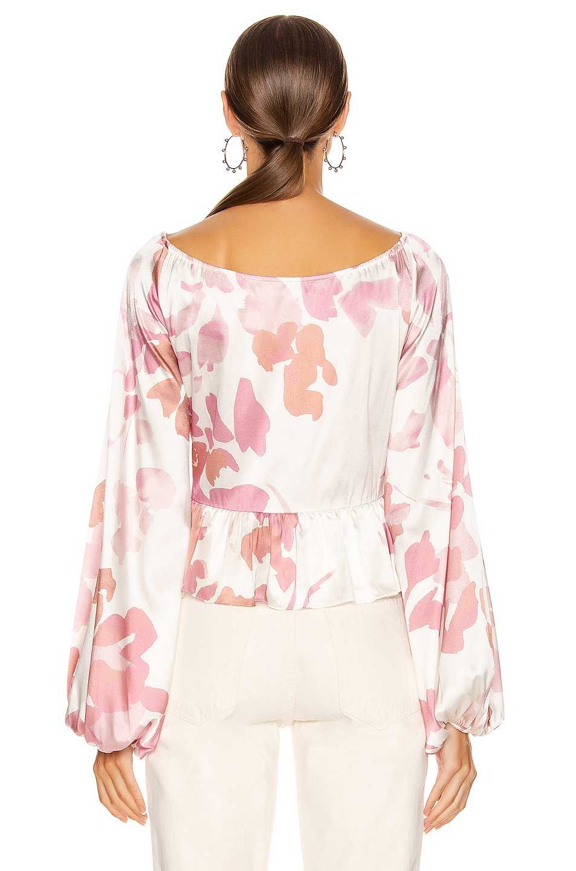 Image 3 of Caroline Constas Onira Top in Blush
