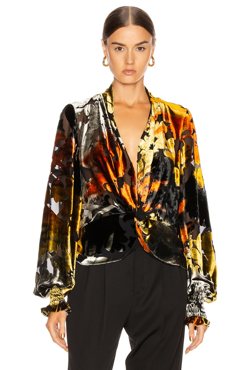 Image 2 of Caroline Constas Bette Top in Gold