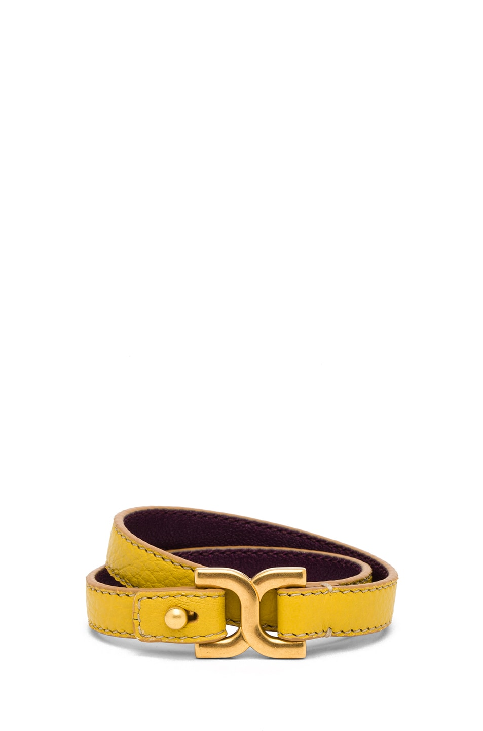 Image 1 of Chloe Marcie Leather Wrap Bracelet in Citrus Grove