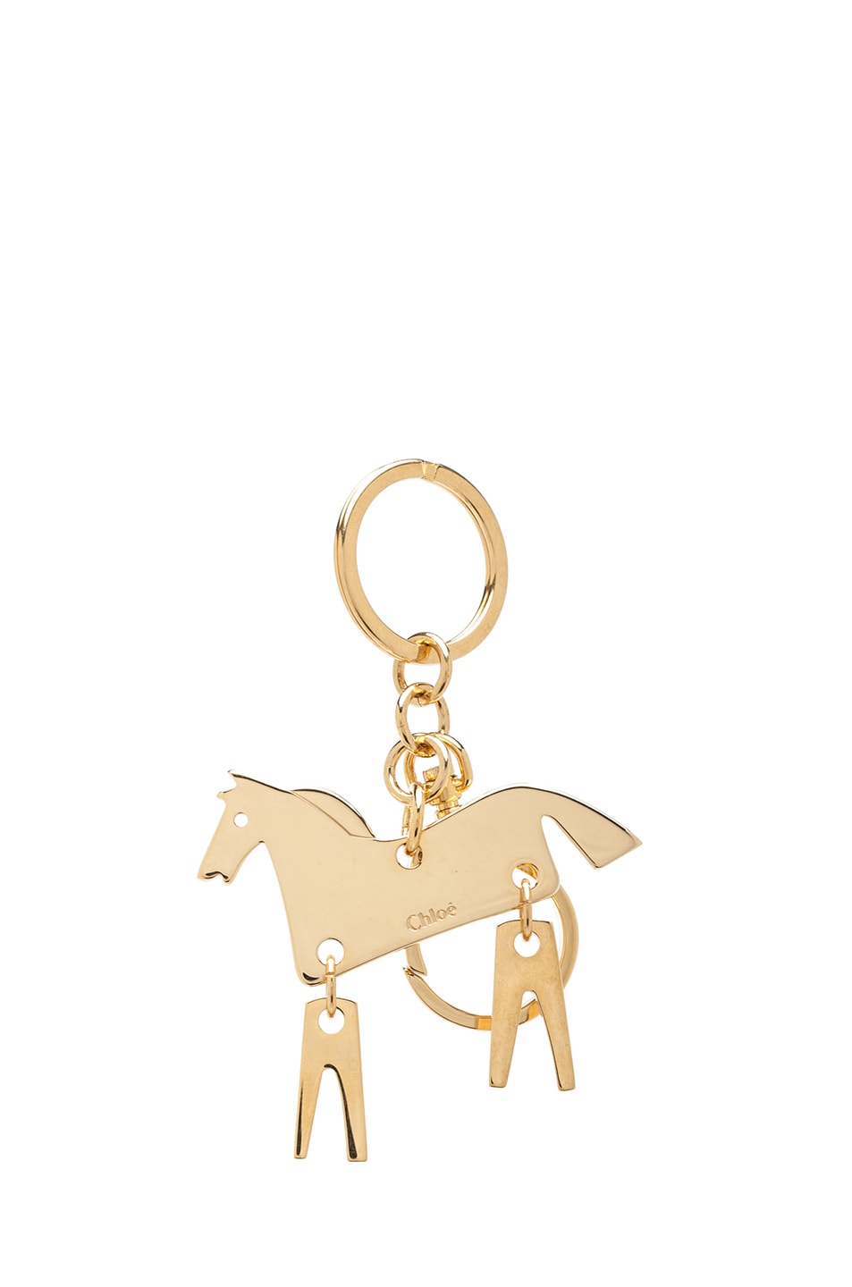 Image 1 of Chloe Horse Plated Key Ring in Gold