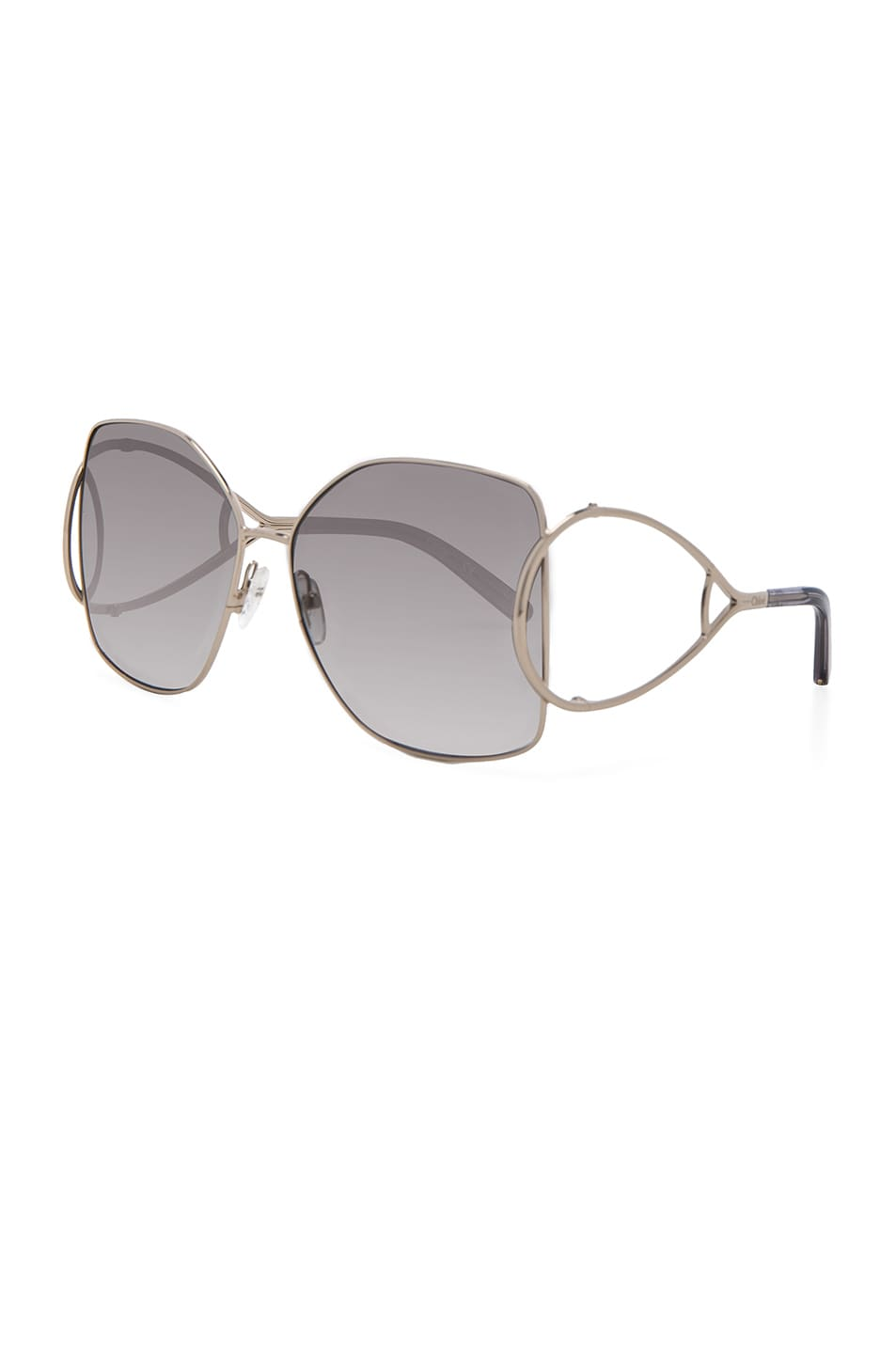 Image 2 of Chloe Jackson Sunglasses in Gold & Grey