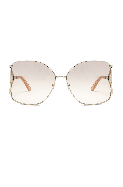 Image 1 of Chloe Jackson Sunglasses in Gold & Peach