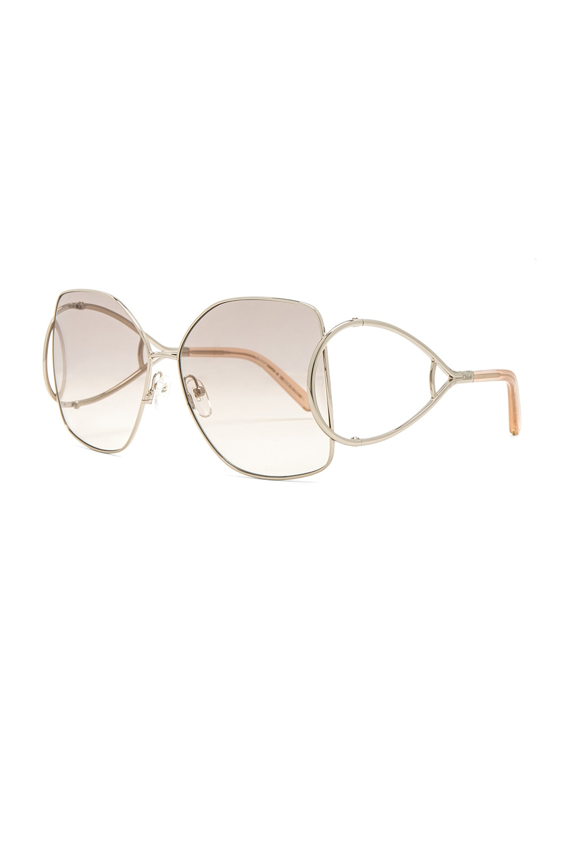 Image 2 of Chloe Jackson Sunglasses in Gold & Peach
