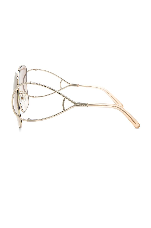 Image 3 of Chloe Jackson Sunglasses in Gold & Peach
