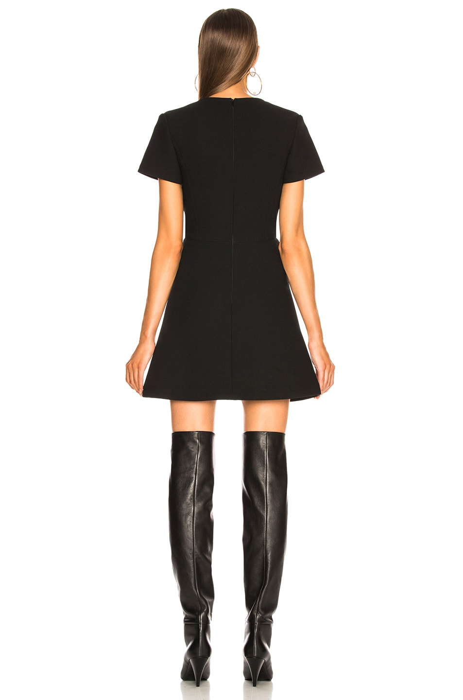 Image 4 of Chloe Double Face Wool Crepe Mini Dress in Black