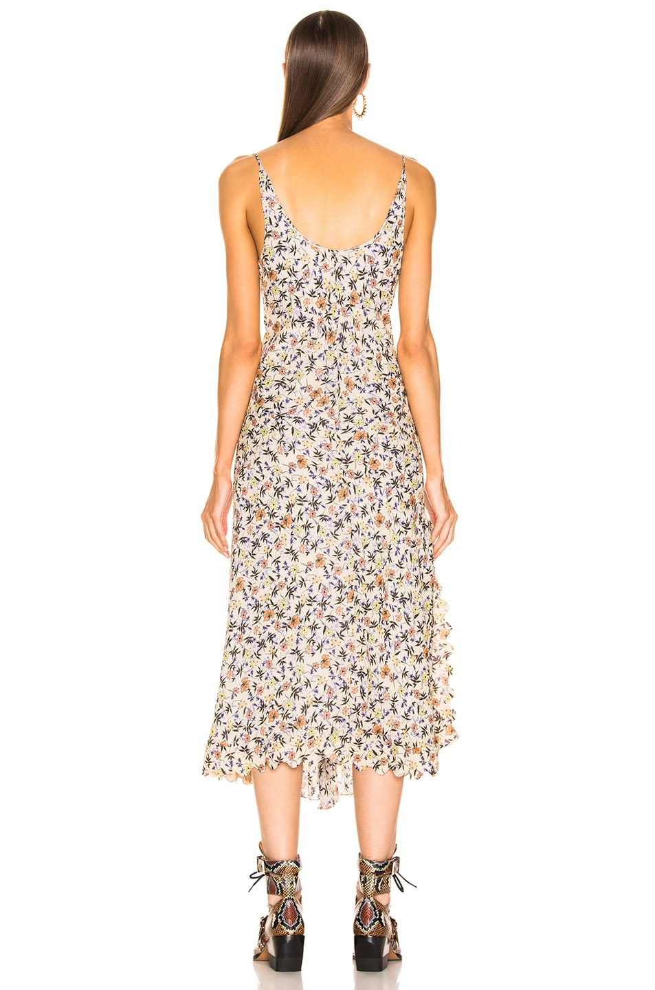 Image 4 of Chloe Slip Dress in Multicolor Brown