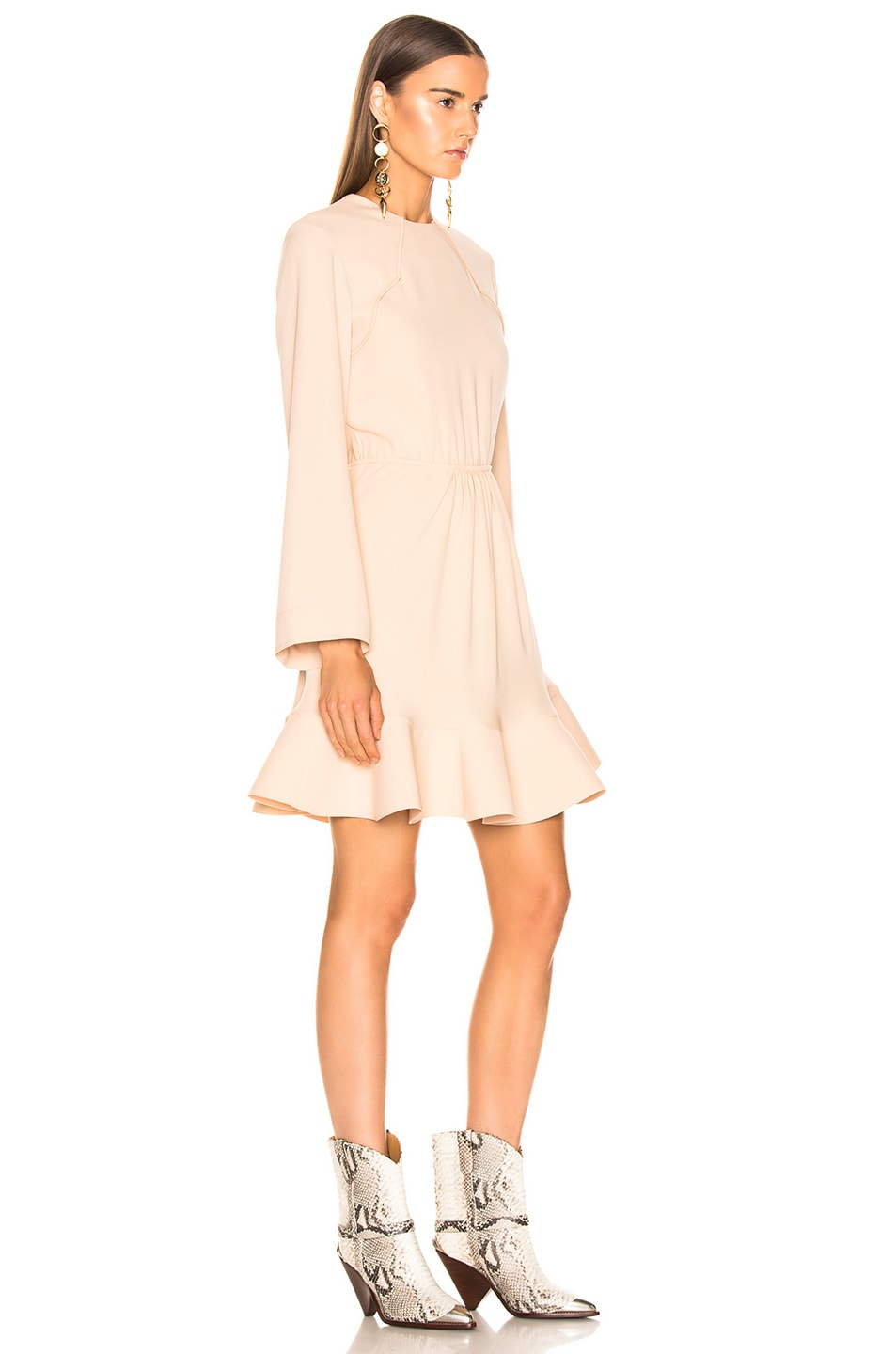 Image 2 of Chloe Long Sleeve Dress in Macadamia Brown