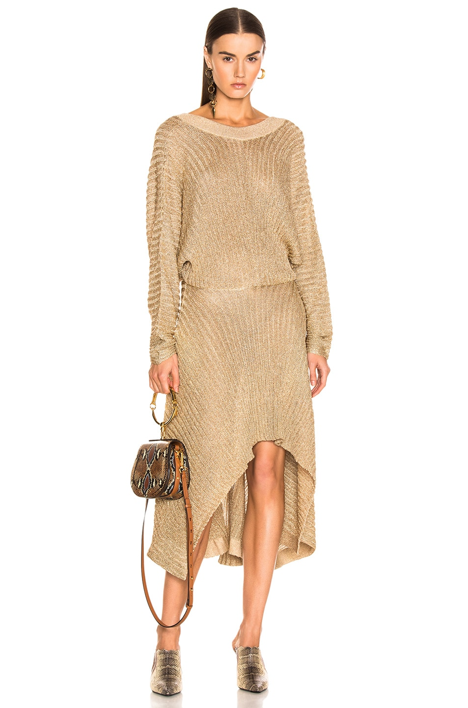 Image 1 of Chloe Golden Dress in Golden Ochre