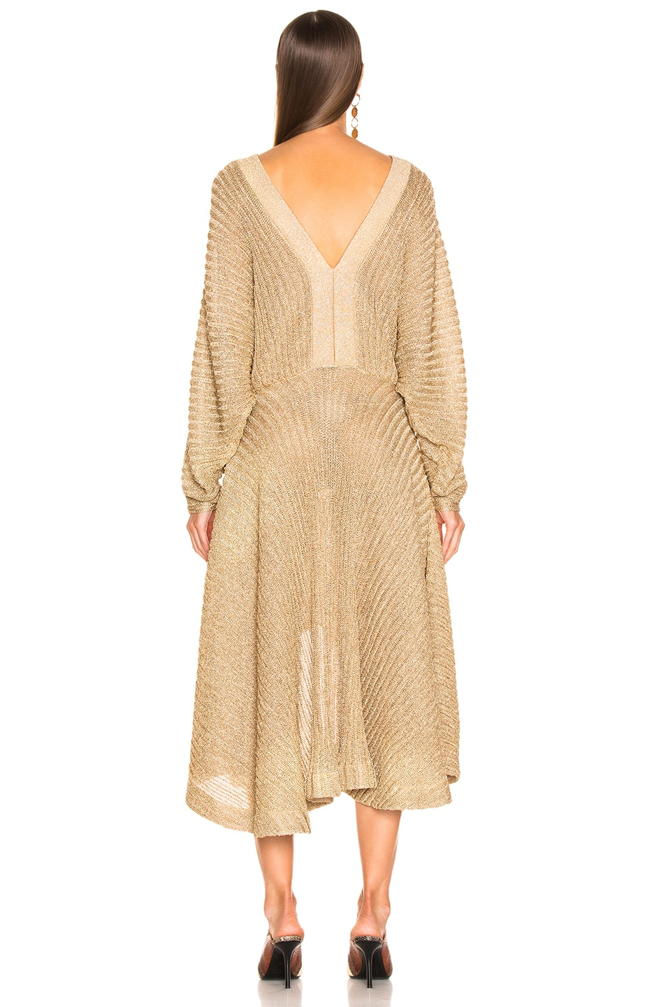 Image 3 of Chloe Golden Dress in Golden Ochre