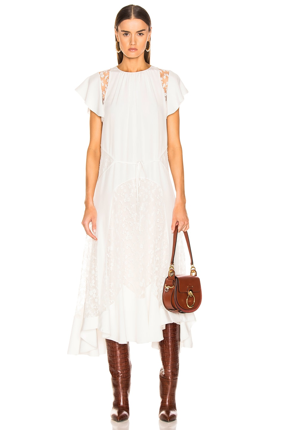 Image 1 of Chloe Lace Dress in Iconic Milk