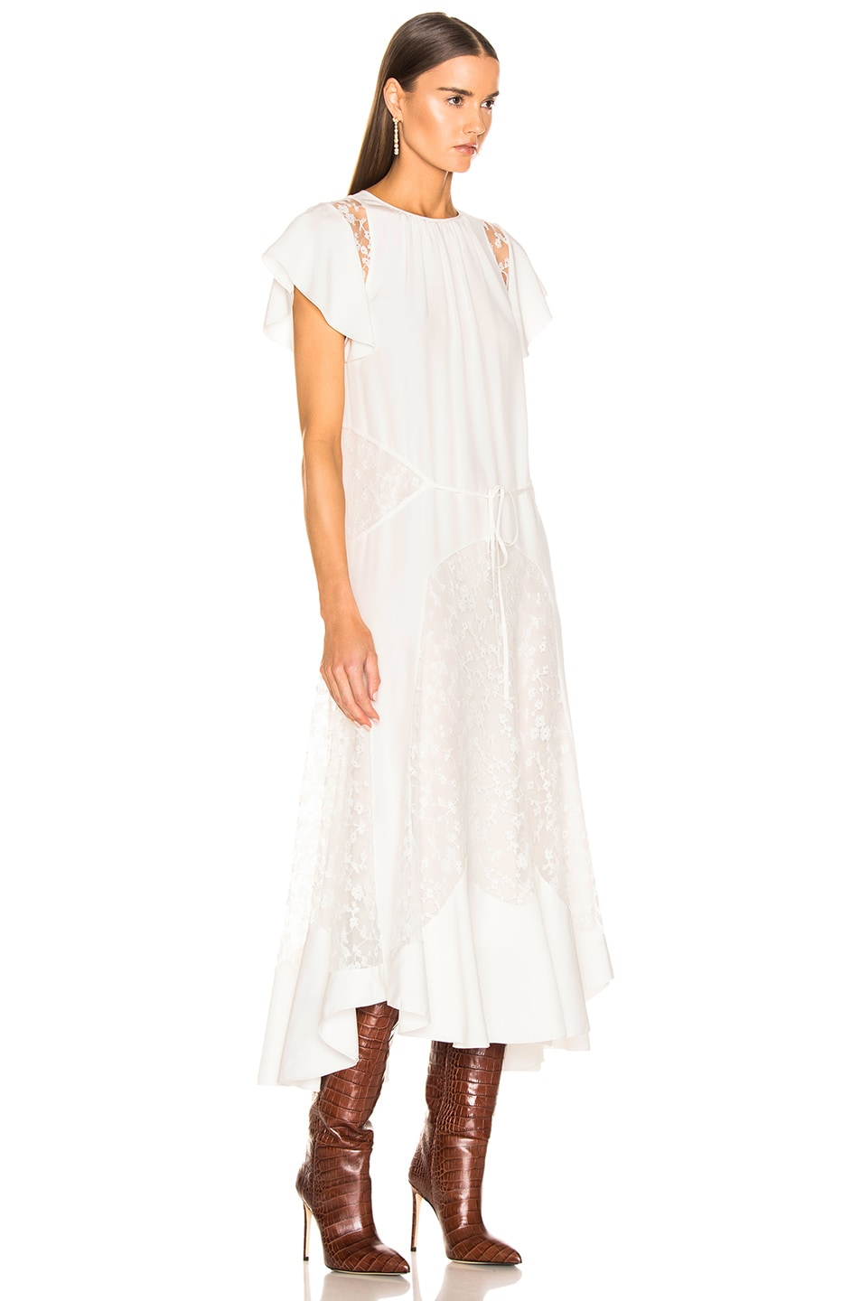Image 2 of Chloe Lace Dress in Iconic Milk