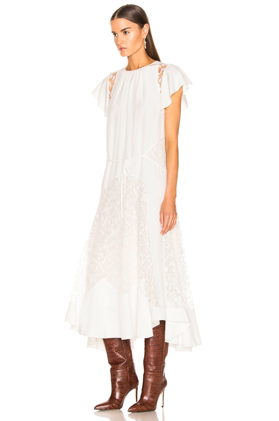 Image 3 of Chloe Lace Dress in Iconic Milk
