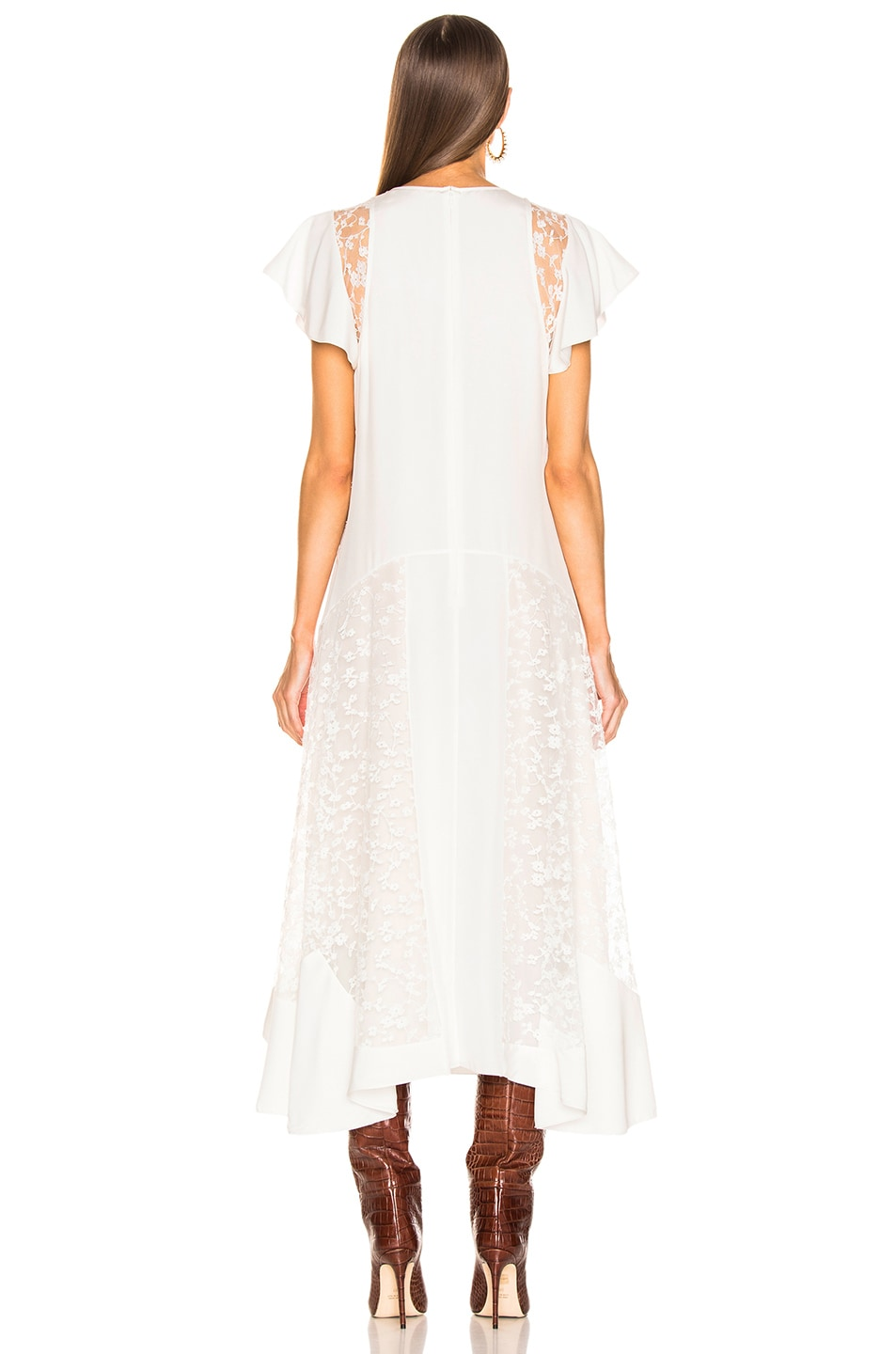 Image 4 of Chloe Lace Dress in Iconic Milk